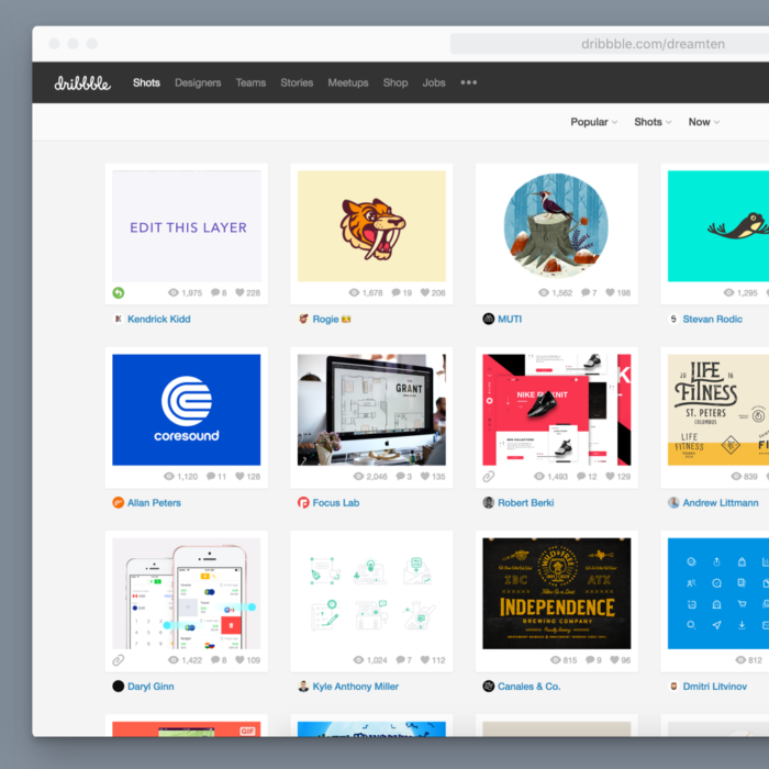 Dribbble Pages